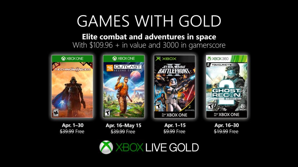 Games with Gold - kwiecień 2019