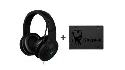 Słuchawki Razer Essential + Dysk SSD Kingston A400 (480GB)